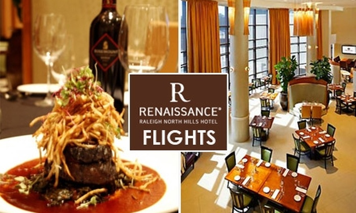 Renaissance Hotel - North Hills: $20 for $40 Worth of Upscale, Eclectic Fare and Drinks at Flights Restaurant