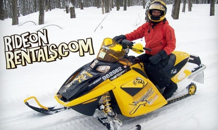 Ride On Rentals - Blue Mountains: $17 for a 1.5-Hour Guided Snowshoeing Tour, Plus a $20 Gift Card Toward Snowmobiling from RideOnRentals