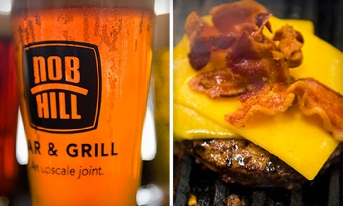 Nob Hill Bar & Grill - Nob Hill: $10 for $20 of Upscale American Bar Fare and Drinks at Nob Hill Bar & Grill