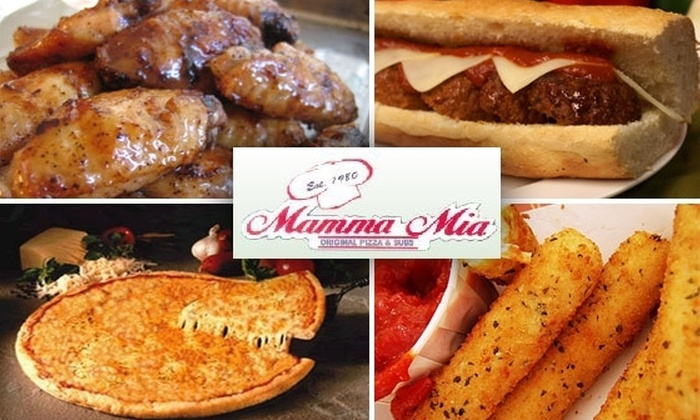 Mamma Mia's Subs & Brick Oven Pizza - Multiple Locations: $12 for $25 Worth of Pizza, Pasta, Drinks, and More at Mamma Mia Subs & Brick Oven Pizza