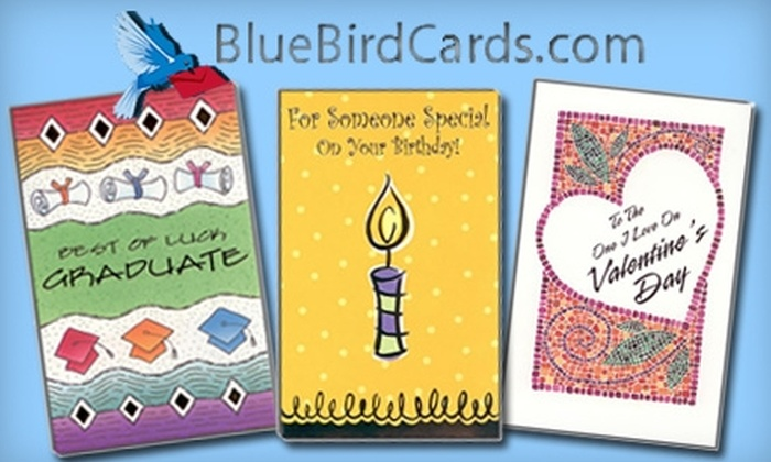 Bluebird Cards: $8 for $16 Worth of Pre-Prepared Greeting Cards from Bluebird Cards