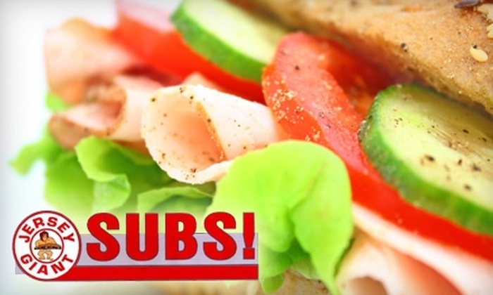 Jersey Giant Subs - Portage: $5 for $10 Worth of Subs and More at Jersey Giant Subs