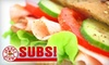 Jersey Giant SUBS! - Portage: $5 for $10 Worth of Subs and More at Jersey Giant Subs