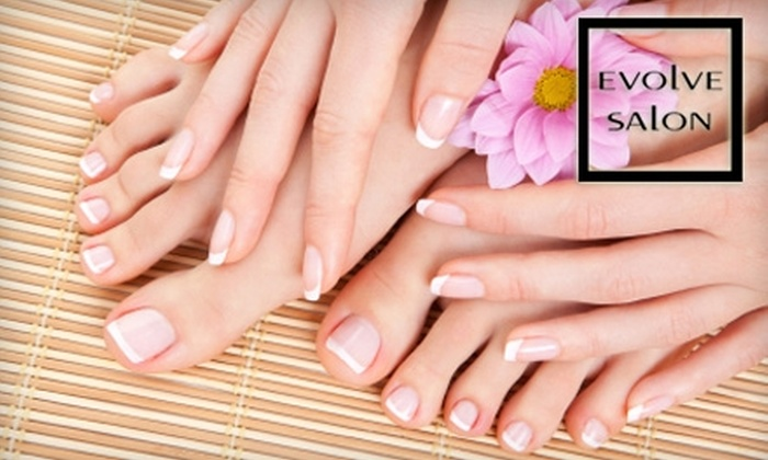 Evolve Salon - Cottage Home: $35 for Either $70 Worth of Waxing Services or a Mani-Pedi ($70 Value) at Evolve Salon