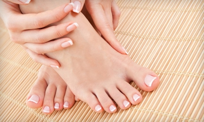 Fresco Salon - Arlington: $23 for a Manicure and Deluxe Pedicure ($47 Value) or $44 for a Haircut and Partial Highlight ($88 Value) at Fresco Salon in Arlington