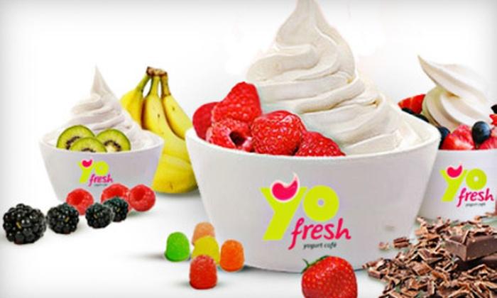 YoFresh Yogurt Cafe - Spring Valley: Frozen Yogurt and Smoothies at YoFresh Yogurt Cafe (Up to 52% Off). Two Options Available.