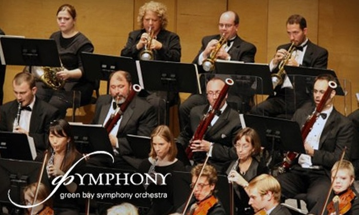 Green Bay Symphony Orchestra - Green Bay: $40 for Two Orchestra Tickets and Two Glasses of Wine at a Green Bay Symphony Orchestra Performance (Up to $100 Value). Choose from Three Performances.