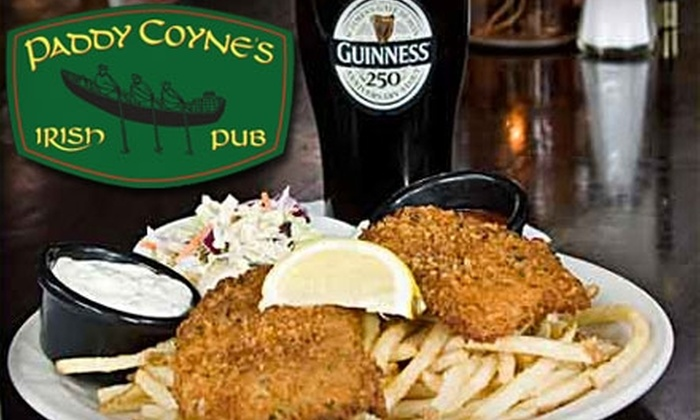 Paddy Coyne's - Multiple Locations: $10 for $20 Worth of Pub Grub and Drinks at Paddy Coyne's Irish Pub. Choose from Three Locations.