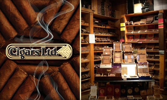 Cigars Limited - Multiple Locations: $10 for $20 Worth of Cigars, Pipes, Shaving Accessories, and Sundry from Cigars Limited