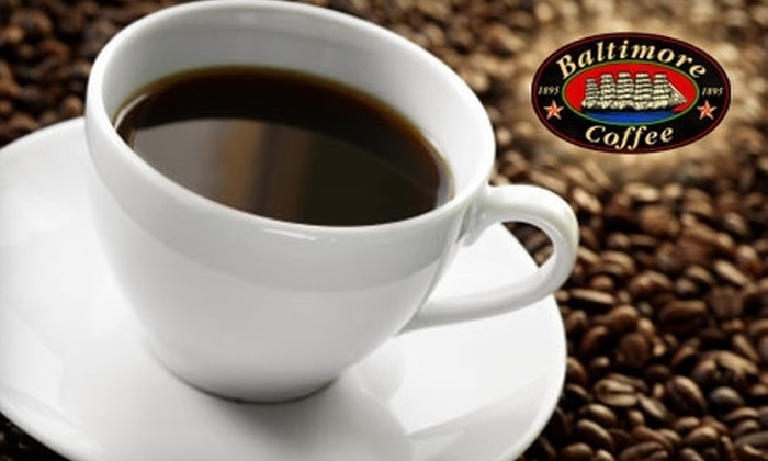Baltimore Coffee and Tea Company - Multiple Locations: $10 for $20 Worth of Fresh Roasted Coffee, Eastern Shore Teas, and More at Baltimore Coffee and Tea Company