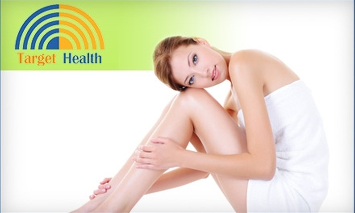 Target Health - Southeast Calgary: $75 for Three Laser Hair-Removal Treatments at Target Health in Gold's Gym ($147 Value)
