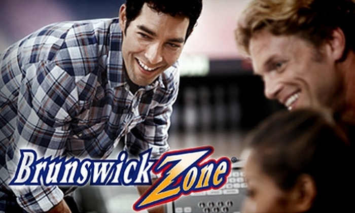 Brunswick Zone - Multiple Locations: $5 for Two Games of Bowling Plus One Pair of Rental Shoes at Brunswick Bowling (Up to $16 Value)
