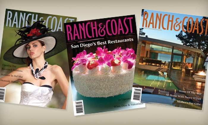 """Ranch & Coast"" - Valley Center: $10 for a One-Year Subscription to ""Ranch & Coast"" Magazine ($20 Value)"