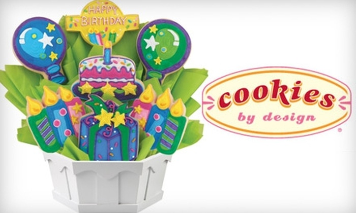Cookies By Design Amarillo - Amarillo: $24 for an Original Cookie Bouquet or Classic Cookie Basket at Cookies by Design (Up to $51.99 Value)