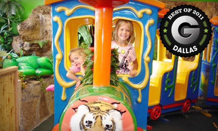 Indoor Safari Park - Plano: $5 for Kids' Safari Outing with Rides, Game of Mini Golf, and Access to Play Areas at Indoor Safari Park ($9.99 Value)