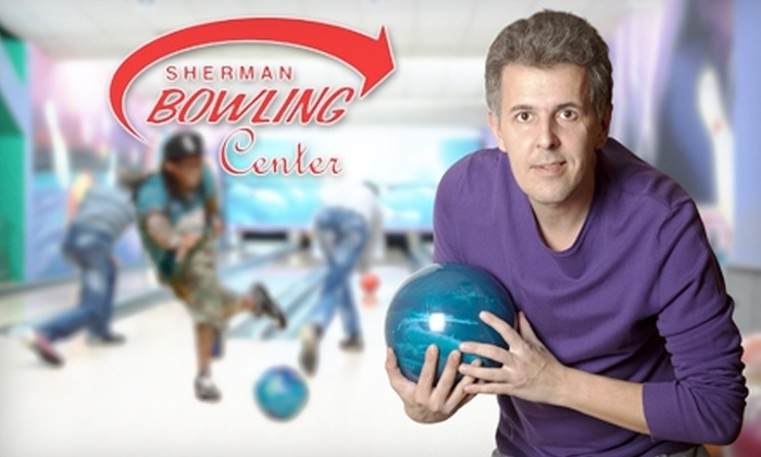 Sherman Bowling Center - Glenside: $10 for Two Games of Bowling and Shoe Rental for Two, Plus a Pitcher of Soda, at Sherman Bowling Center in Muskegon (Up to $23 Value)