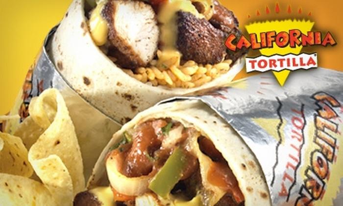 California Tortilla - Multiple Locations: $5 for $12 Worth of Casual Mexican Fare at California Tortilla