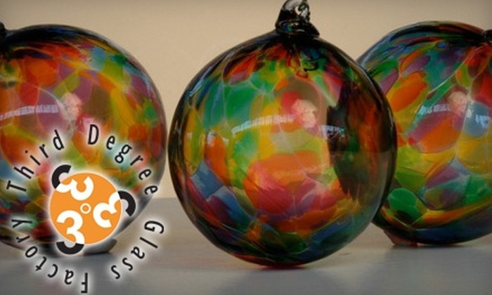 Third Degree Glass Factory - Academy/Sherman Park: $30 for Three Hand-Blown Glass Ornaments From Third Degree Glass Factory ($60 Value)