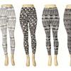 Black-and-White Printed Leggings