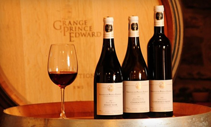 The Grange of Prince Edward Vineyards and Estate Winery - Hillier: Vineyard Outing for Two at The Grange of Prince Edward Vineyards and Estate Winery in Hillier. Three Options Available.