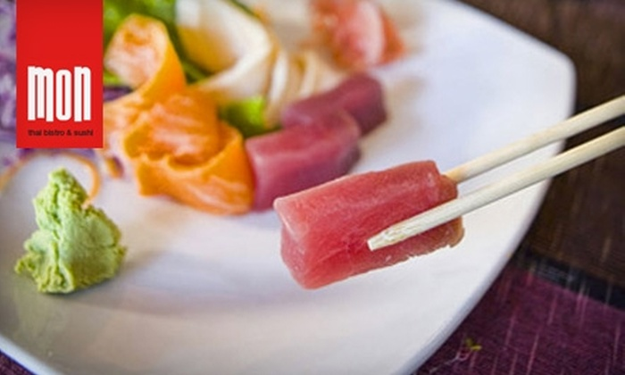 Mon Thai Bistro & Sushi - Alamo Heights: $12 for $25 Worth of Dinner Fare at Mon Thai Bistro & Sushi (or $7 for $15 Worth of Lunch)