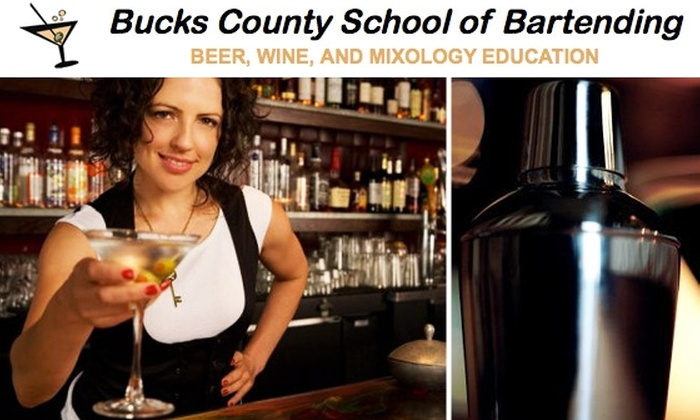 Bucks County School of Bartending  - Bensalem: $150 for Intro to Mixology at Bucks County School of Bartending