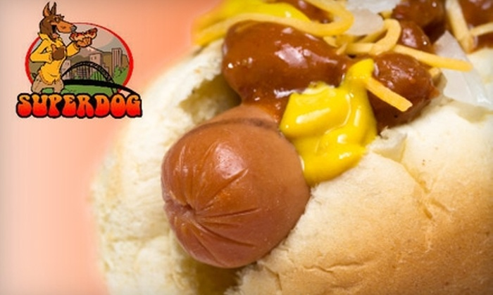 SuperDog - Multiple Locations: $5 for $10 Worth of Gourmet Sausages & More at SuperDog