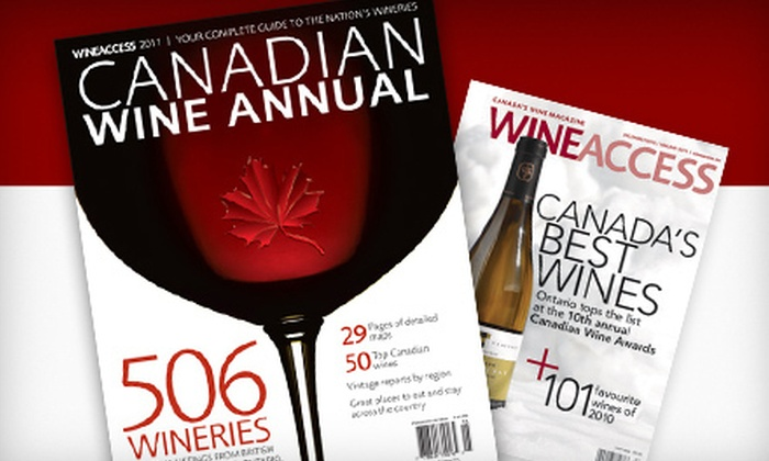 "Wine Access - Kingston / Belleville: $20 for a One-Year Subscription Package to ""Wine Access"" Magazine Including 2012 Wine Annual and Tote Bag ($40 Value)"