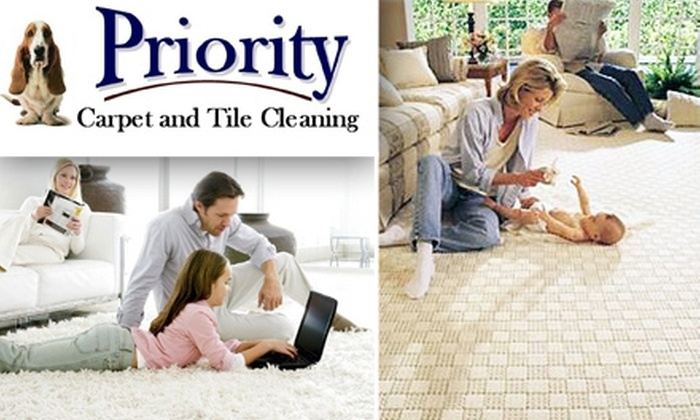 Priority Carpet and Tile Cleaning - Dallas: $79 for a Three-Room Carpet Cleaning from Priority Carpet and Tile Cleaning ($205 Value)