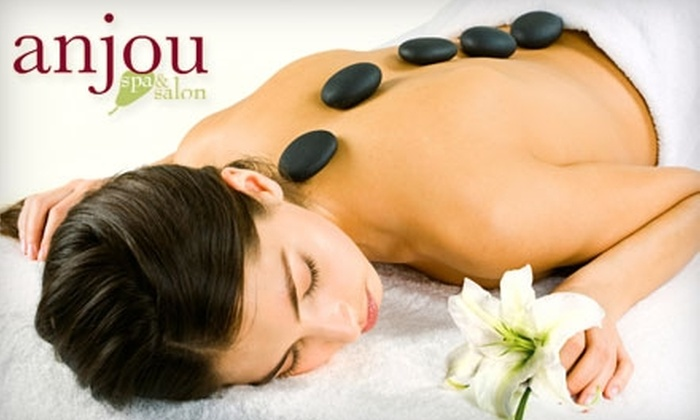 Anjou Spa & Salon - Old Bend: $45 for an Aromatherapy Massage ($95 Value), $85 for a Couple's Massage ($175 Value), or $45 for an Anjou Pear and Green-Apple Wrap ($90 Value) at Anjou Spa & Salon