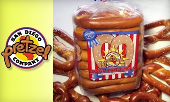 San Diego Pretzel Company: $25 for Two Eight-Pack Bags of Large 5.5-Ounce Pretzels from San Diego Pretzel Company ($51.90 Value)