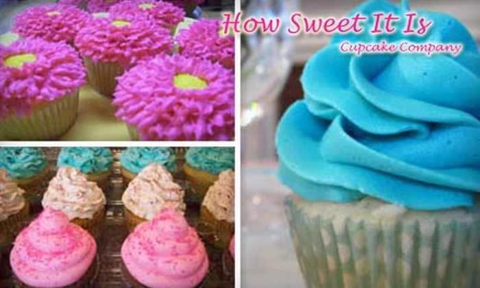 How Sweet It Is Cupcake Company - Moorestown: $12 for a Dozen Cupcakes from How Sweet It Is Cupcake Company