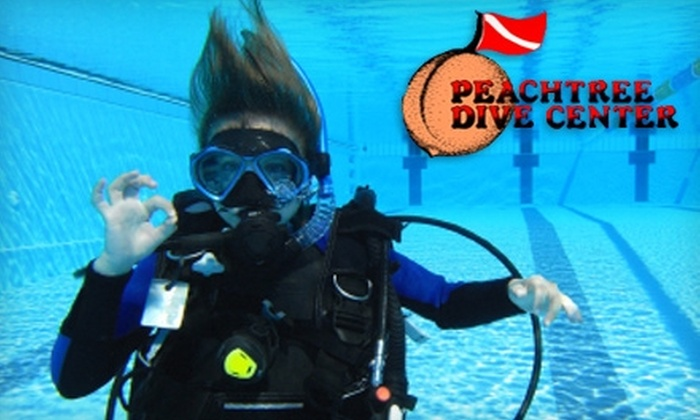 Peachtree Dive Center - Tyrone: Snorkeling, Pool Party, or Open-Water Scuba-Certification Class at Peachtree Dive Center