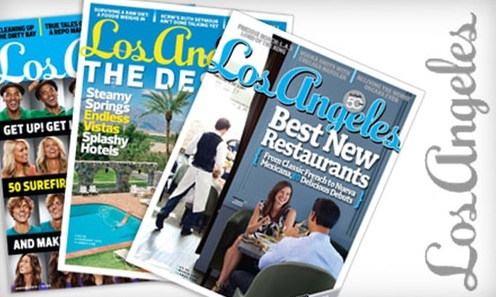 """""""Los Angeles"""" Magazine - Multiple Locations: $5 for a One-Year Subscription to """"Los Angeles"""" Magazine ($9.95 Value)"""