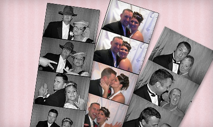 OKC Finest Photobooth - Norman: Save the Date Photo-Booth Session or Two Four-Hour Arcade Rentals from OKC Finest Photobooth