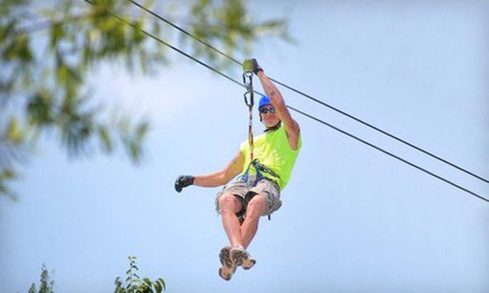 Adventure Ziplines of Branson and Sky Surfer - Multiple Locations: Zipline Canopy Tour, Motorized Sky Surfer Ride, or Both at Adventure Ziplines of Branson and Sky Surfer (Up to 55% Off)