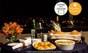 Terraço Sunset: Terraço Sunset – Santana: jantar romântico para 2 pessoas com couvert, entrada e prato principal