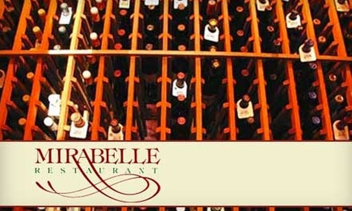 Mirabelle Restaurant - West Hollywood: $25 for $50 Worth of Upscale Bistro Fare and Drinks at Mirabelle on Sunset in West Hollywood