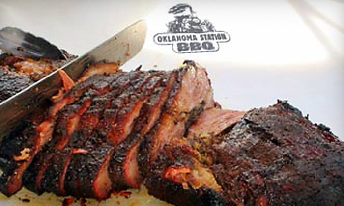 Oklahoma Station BBQ - Springdale: Barbecue Dinners for One, Two, or Four at Oklahoma Station BBQ