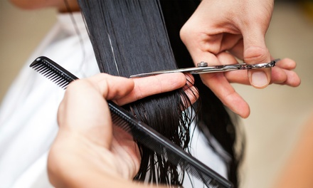 Cut and Blow-Dry with Intense Repair Treatment or Colour at Taylors Haidressing (Up to 68% Off)