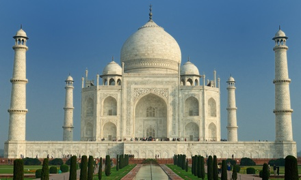 groupon daily deal - ✈8-Day Tour of India with Round-Trip Airfare fromIndus Travels.Price/Person Based on Double Occupancy.