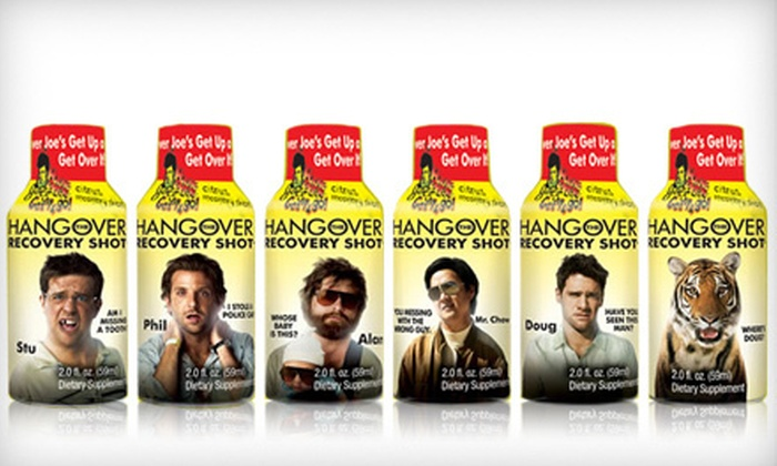 """""""The Hangover"""" Recovery Shot: """"The Hangover"""" Recovery Shot 12-Pack or 24-Pack (Up to 70% Off)"""
