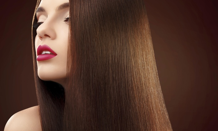 Industry Hair Worx - Downtown: A Haircut and Straightening Treatment from Industry Hair Worx (55% Off)