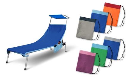 Telo mare per lettino Irge con tasche porta oggetti ed elastici antiscivolo disponibile in vari colori