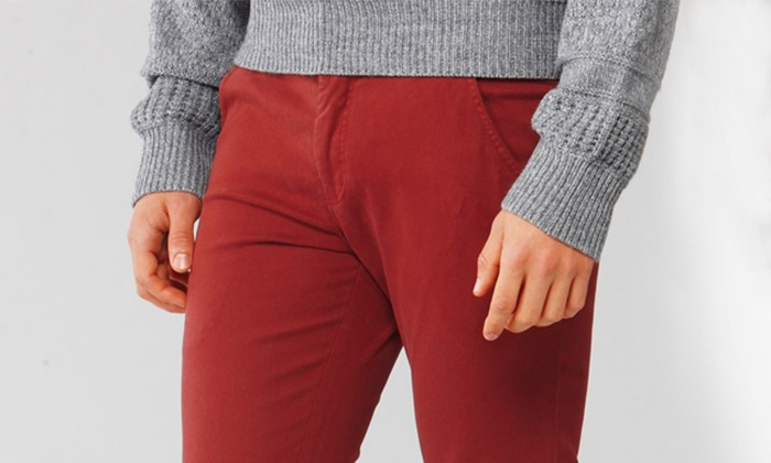 Custom Chino - Multiple Locations: Custom Chinos and Shirts at Custom Chino (Up to 55% Off). Three Options Available.