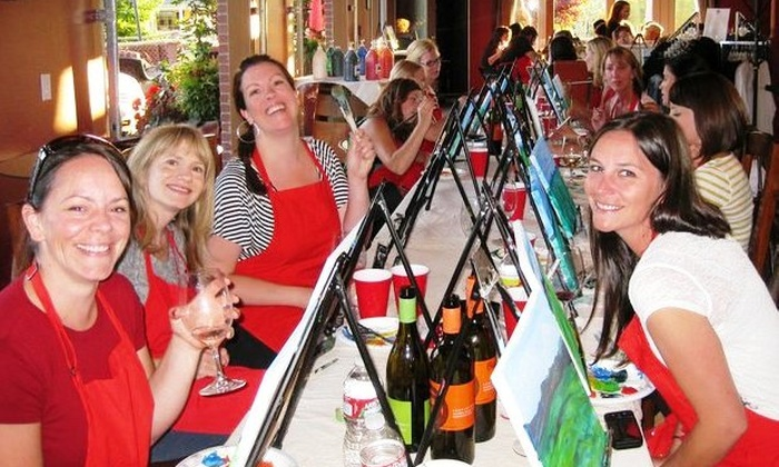 Corks and Canvas Events - Multiple Locations: $22 for a Painting Event from Corks and Canvas Events ($35 Value)