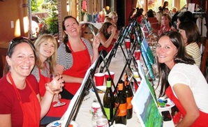 Corks and Canvas Events: $26.50 for a Painting Event with a Glass of Wine from Corks and Canvas Events ($45 Value)
