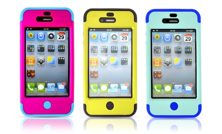Hybrid Rugged Case for iPhone 4/4s, 5/5s, or 5c
