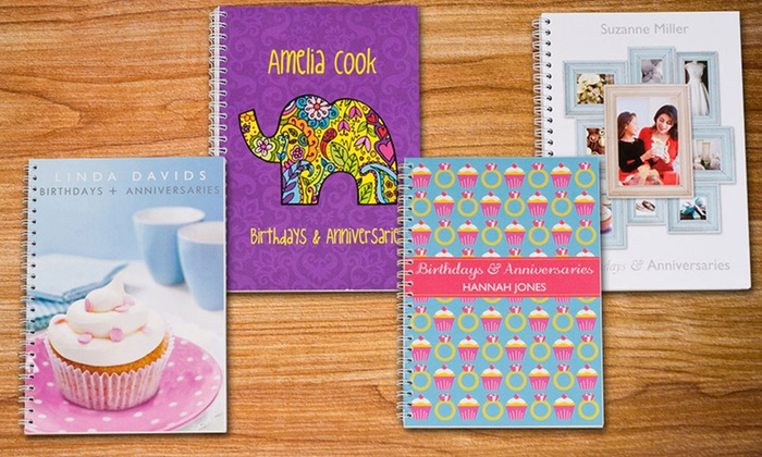 Simply Personalized: One or Two Personalized Date Reminder Books from Simply Personalized (Up to 51% Off)