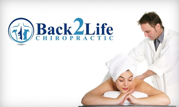 Back 2 Life Chiropractic - Meridian: $20 for an Hour Long Massage and Consultation at Back 2 Life Chiropractic